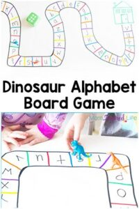 Dinosaur Alphabet Board Game