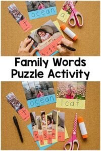 Family Word Puzzle Activity