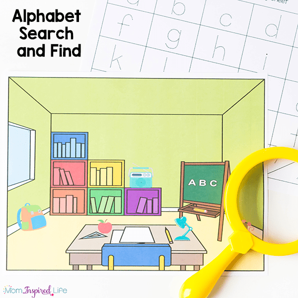 This I Spy Alphabet Search and Find is a really fun, hands-on way to practice letter identification and letter writing.