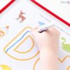 Teaching kids to write letters with these fun, letter sounds alphabet mats.