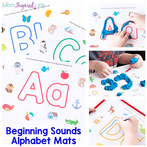 Learning letters and beginning letter sounds with these unique alphabet play dough mats that kids love! They are also a great literacy center idea!