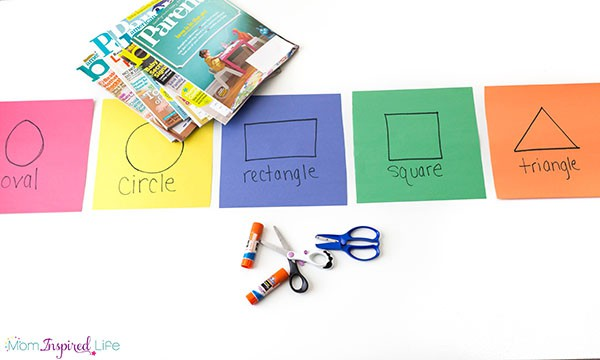 Hunt for shapes in magazines and then sort the shapes.