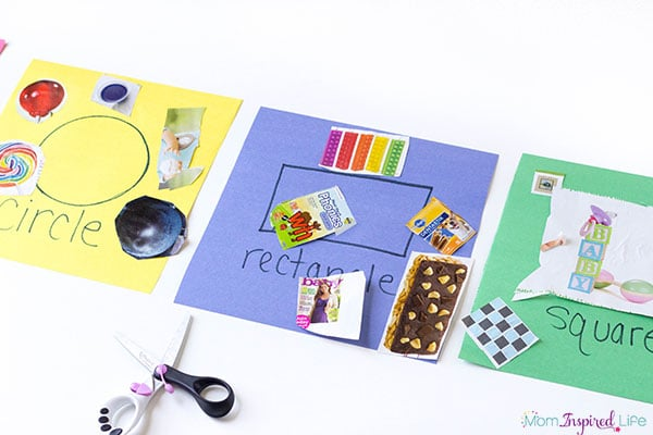 Sorting shapes activity for preschoolers that is open-ended and fun.