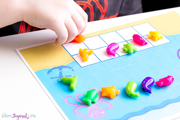 A fun counting activity for summer or your ocean theme lesson plans!