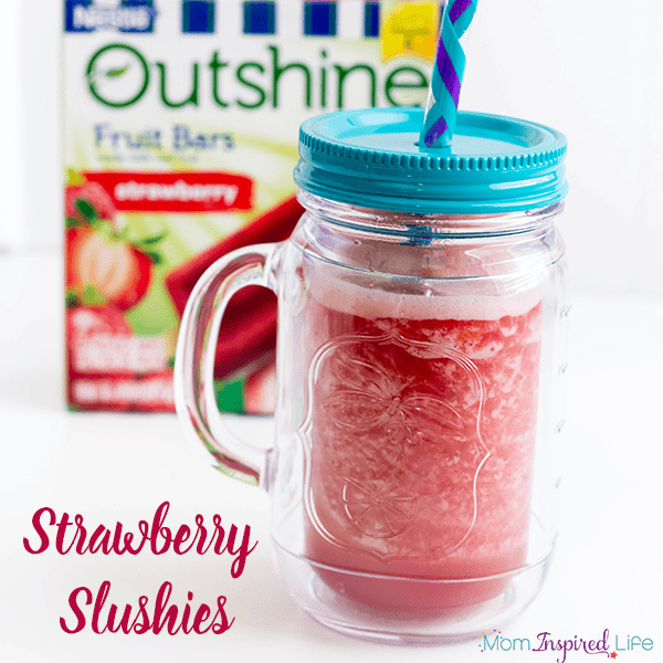 An easy strawberry slushie recipe that only requires two simple ingredients and a blender! Your kids will love this fun summer treat!