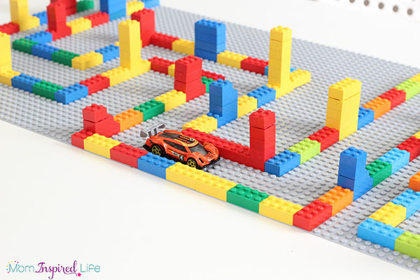 A fun LEGO activity that uses Matchbox cars to develop critical thinking, problem solving and fine motor skills.