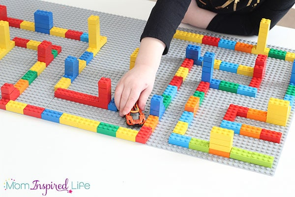 Developing critical thinking and problem solving with a LEGO maze activity that kids love!
