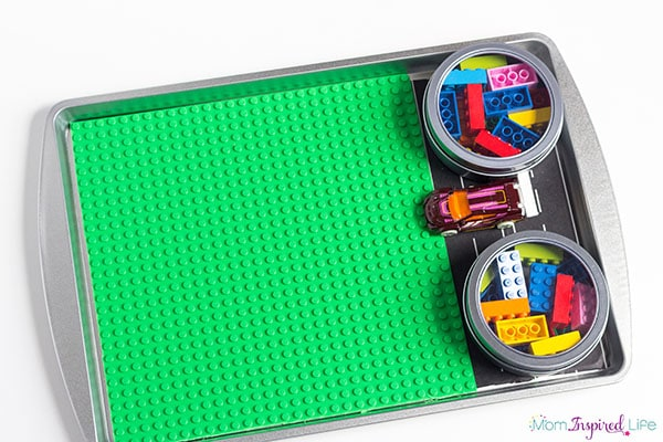 square framed tray Lego Travel Tray. Lego on the go tray