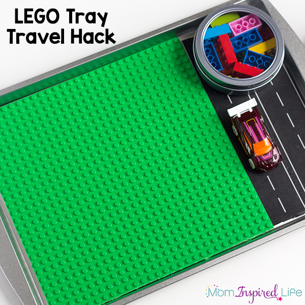 This portable LEGO tray is an awesome travel hack for road trips, plane flights or just for LEGO fun on the go! My kids love this travel tray!