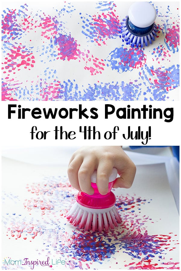 firework craft ideas for preschoolers easy painting fireworks craft with a dish brush 6576