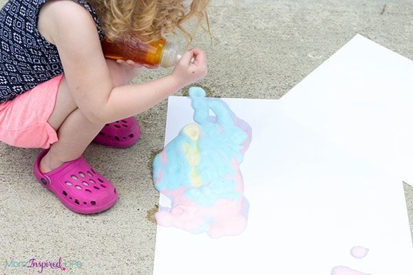Soap foam sensory art activity for toddlers.