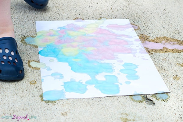 Soap foam process art activity that is fun and messy!