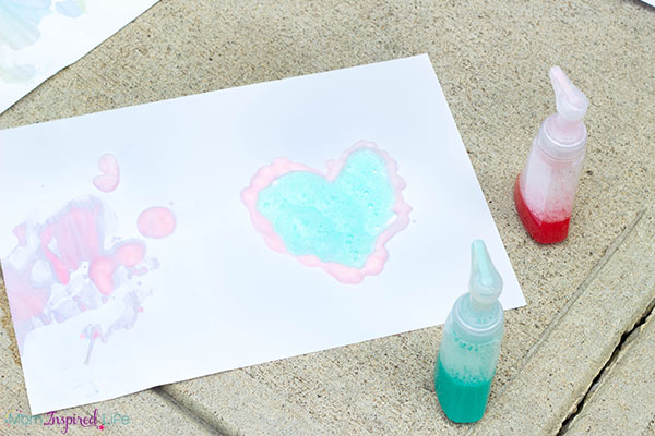 Soap foam art activity