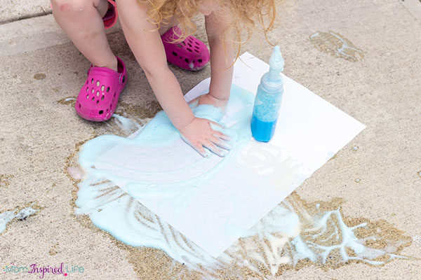 Soap foam sensory art activity that toddlers love!