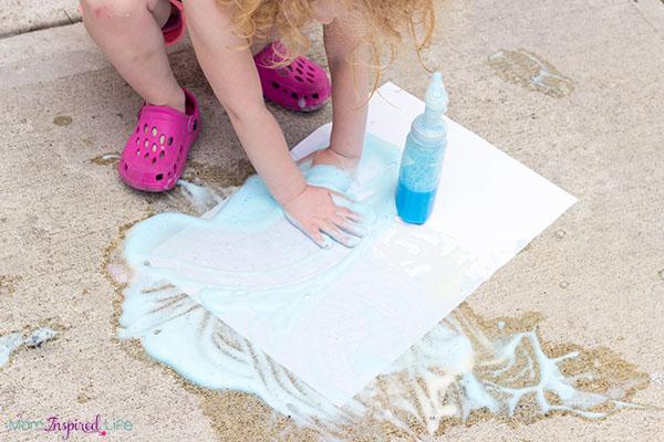 Soap foam sensory art activity that toddlers love!