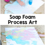 Soap Foam Process Art