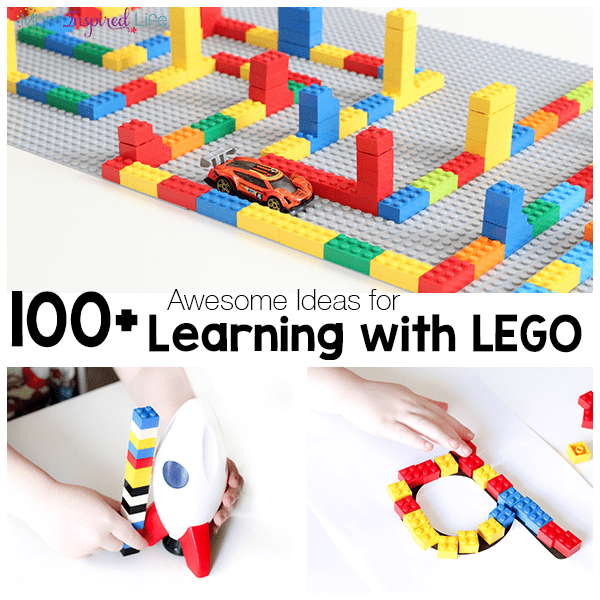 100+ Ideas for Learning with LEGO! Tons of fun LEGO learning activities for kids!