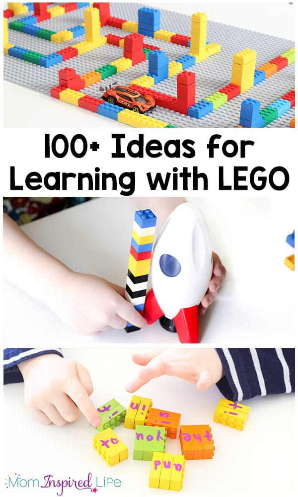 100+ awesome ideas for learning with LEGO. TONS of amazing LEGO activities that teach a variety of subjects from literacy to math, science and more!