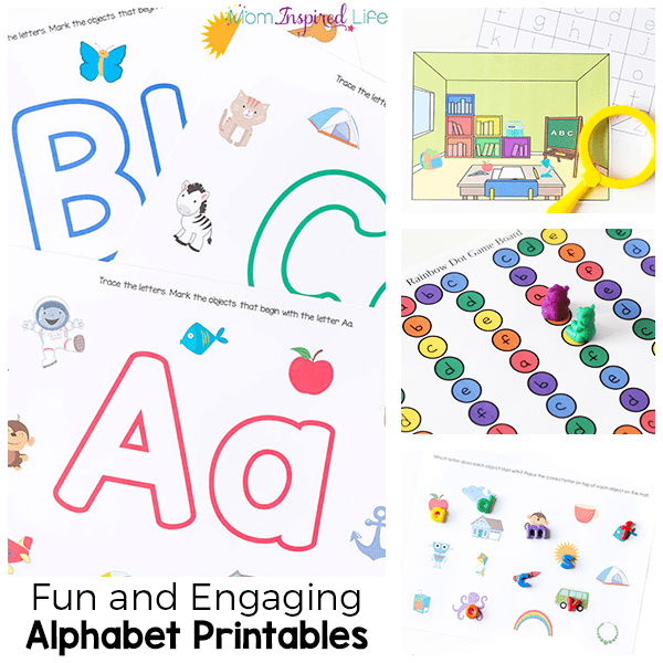 Alphabet printables that are fun and engaging ways to teach the alphabet and letter sounds.