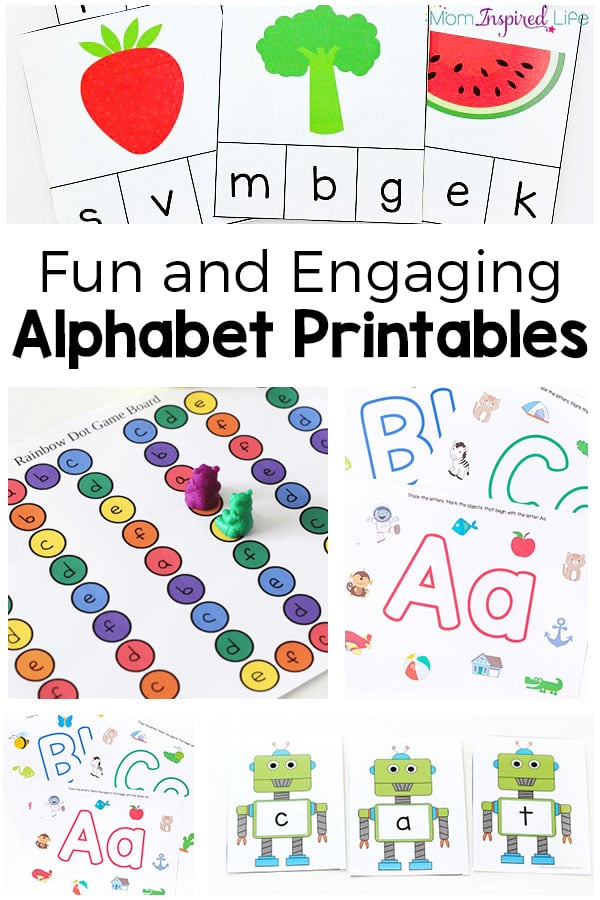 Alphabet printables that are fun and hands-on. These are perfect for preschoolers and kindergarten students.