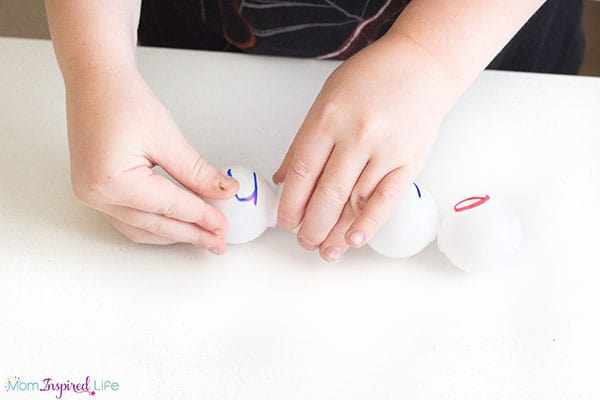 A fun way to practice sight words and other spelling words.