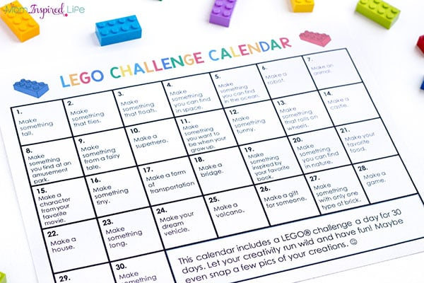 LEGO prompts for kids that will inspire them to get creative and build awesome LEGO creations!