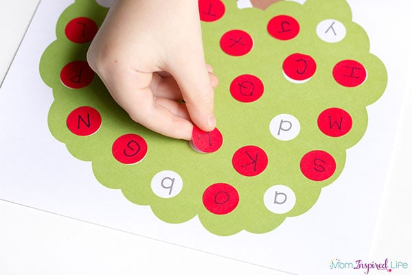 Apple Tree Letter Matching Printable 5