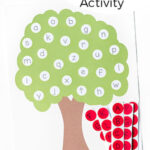 Letter Matching Apple Tree Activity with Printable