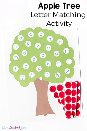 Letter Matching Apple Tree Activity Printable on Best Way To Teach Writing