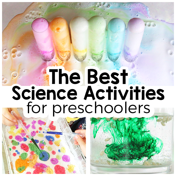 Science activities for preschoolers that are fun and engaging. Science experiments, STEAM explorations and sensory activities that are sure to appeal to young children.