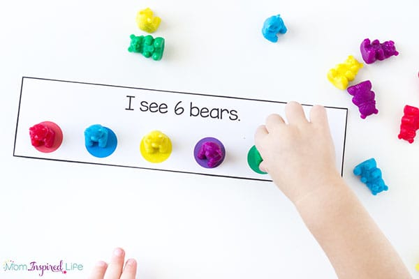 A color learning activity that combines counting and numbers too!