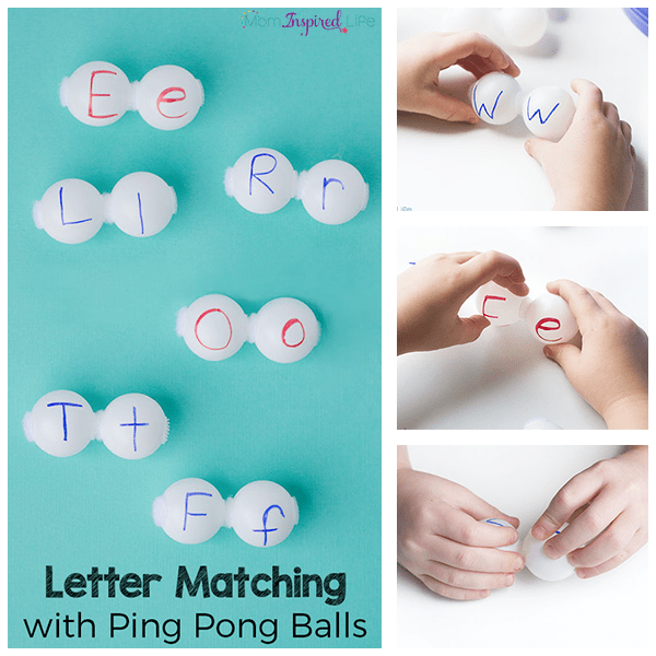 Letter matching alphabet activity that makes learning letters hands-on and engaging!