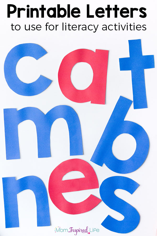 Printable Alphabet Letters in blue and red. Use as alphabet manipulatives for All About Reading.