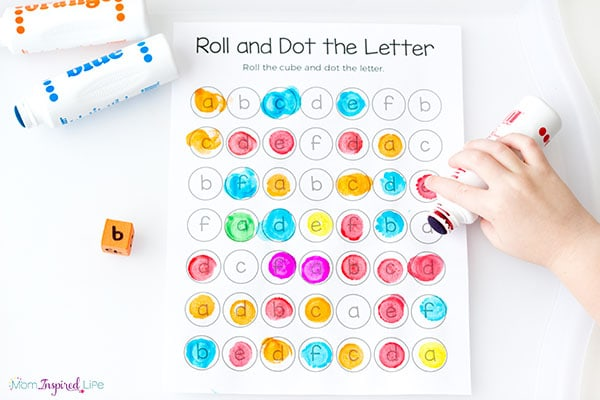 Learning letters is hands-on and engaging with this fun alphabet printable game!