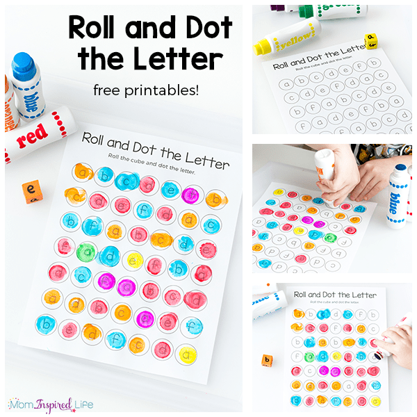 Teach letters and letter sounds with this roll and dot the letter alphabet activity! It is a great way for preschoolers and kindergarten students to learn the alphabet!