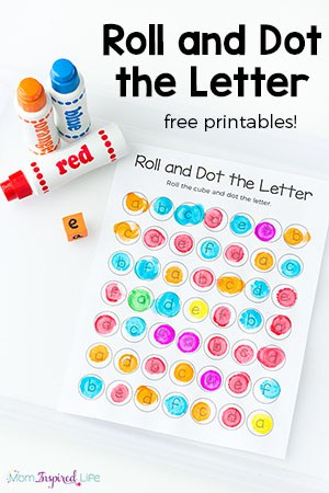 Roll and Dot the Letter Alphabet Activity and Printable