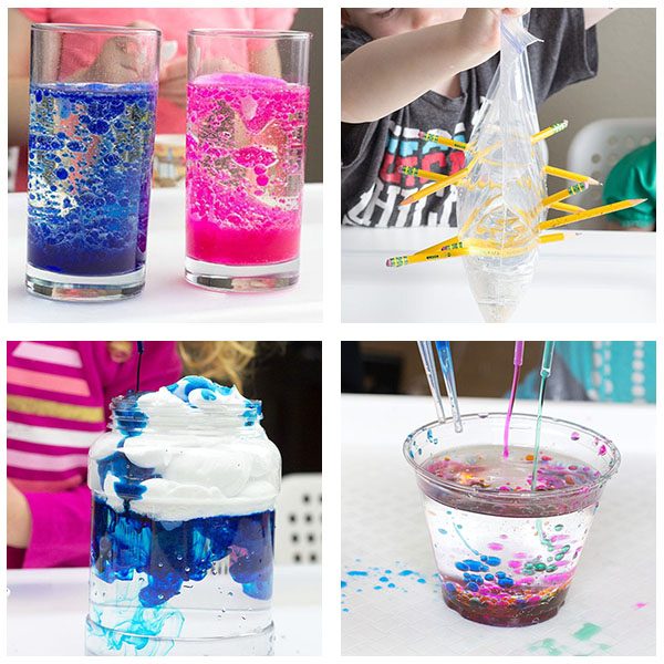 So many fun science experiments and activities for preschoolers and young kids!