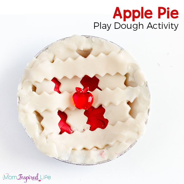 This apple pie play dough activity is so much fun and smells so good!