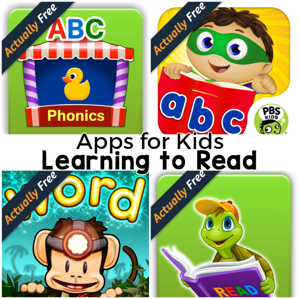 Apps that help kids learn to read! Fun and engaging apps for the classroom or homeschool!