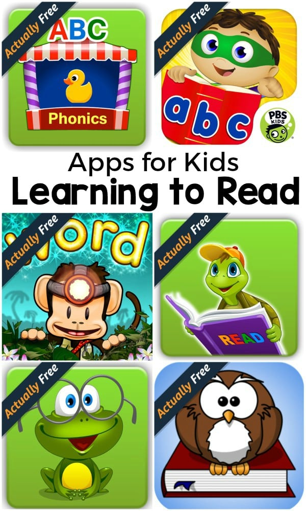 Apps for kids who are learning to read that are actually free. If you are teaching your child to read, you should check these out!