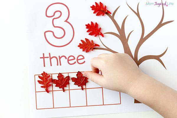 Hands-on counting activity for toddlers.