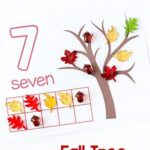 Free Fall Tree Counting Mats for Numbers 1-20