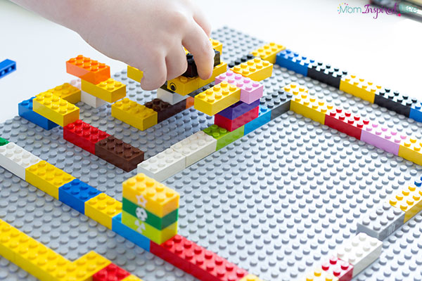 LEGO maze building is a great engineering and design activity for kids of all ages.