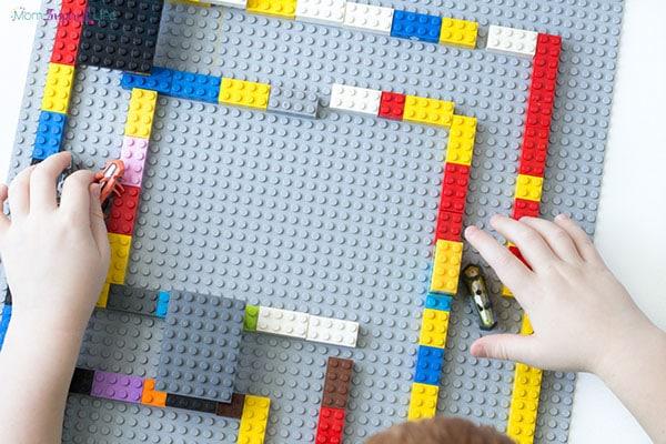 Hexbugs robot activity that uses LEGO too!