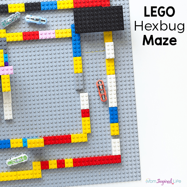 This LEGO hexbug maze is so much fun! It's a fantastic STEM activity for kids!