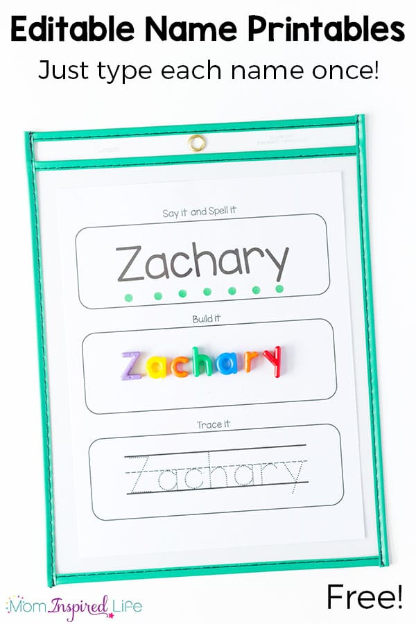 Editable name spelling and tracing printables for Free printable name tracing templates