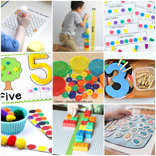 Hands-on math for preschoolers and pre-k students.