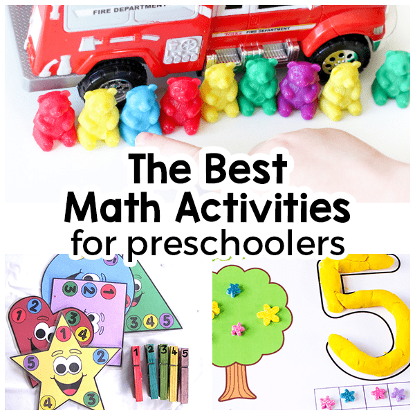 List of math activities for preschoolers that are fun and engaging!