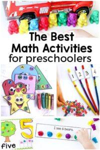 40+ Preschool Math Activities that are Super Fun!