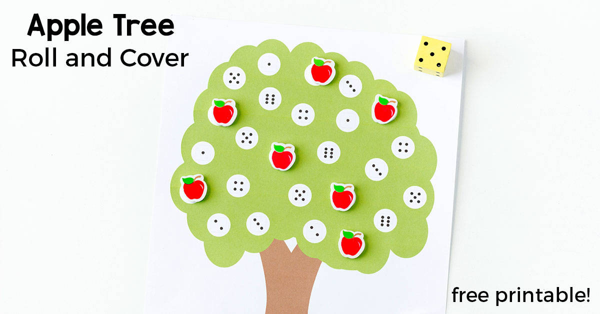 Apple Tree Number Matching Activity
